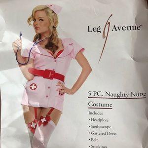 NWT LEG AVENUE NAUGHTY NURSE, SIZE LARGE